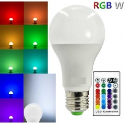 E27 RGBW  5Watt led lamp...
